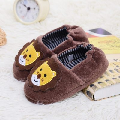 Toddler Infant Shoes Kids Baby Warm Shoes Girls Cartoon Soft-Soled Slippers
