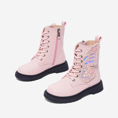 Winter Children Girls Wing Fashion Boots Toddlers Glitter Shoes