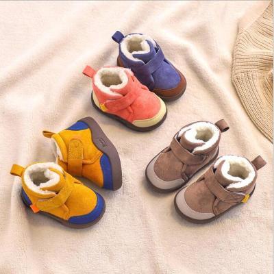 Winter Baby Boys Snow Boots Warm Plush Outdoor Soft Bottom Non-Slip Shoes