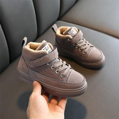 Winter Kids Ankle Boots Fashion Boys Martin Boots Waterproof Snow Sneakers