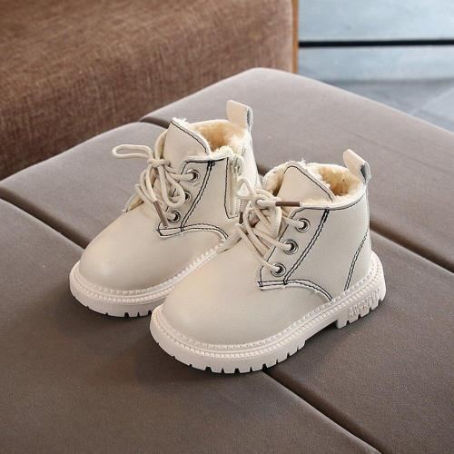 Children Shoes Girls PU Leather Short Boots Non-Slip Winter Martin Boot