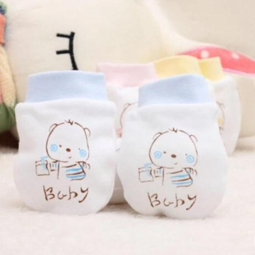 Cute Warm Gloves Cartoon Baby Infant Anti Scratch Mittens Soft Glove