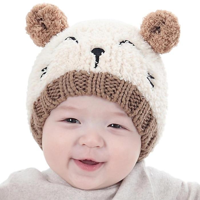 Baby Soft Warm Hat Crochet Elasticity Knitted Hats Children Casual Warm Cap