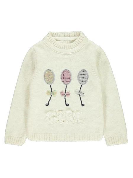Winter Children Soft Warm Knitted Sweater Solid Kids Love Pattern Print Long Sleeve Top