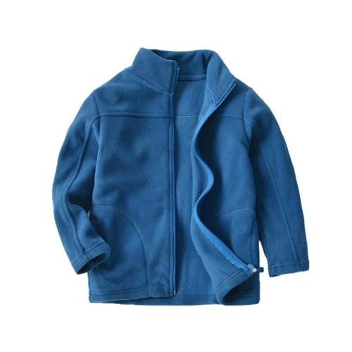 Fleece Full Sleeve Jacket for Boys Blue Casual Polar Fleese Navy Coat