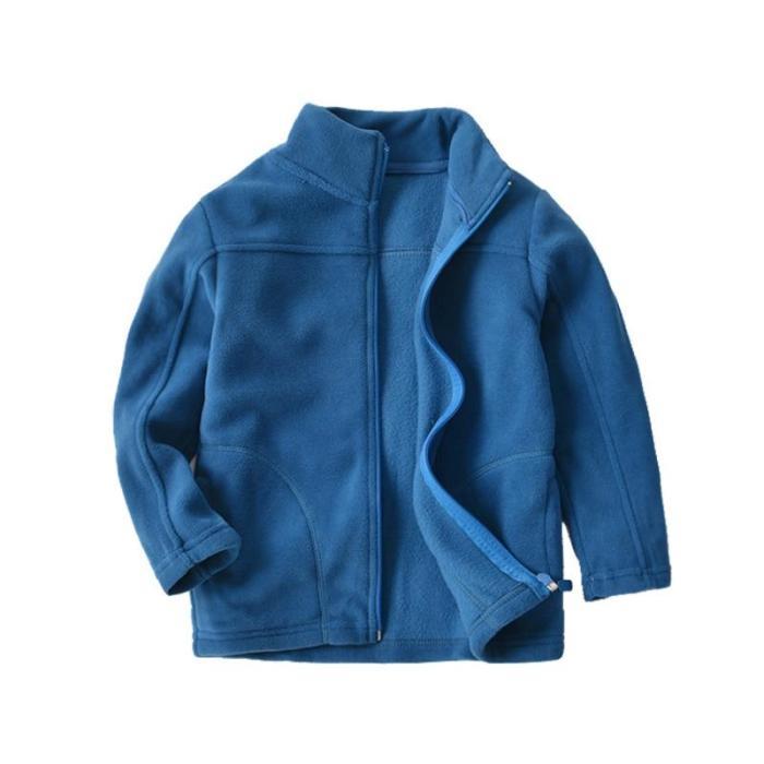 Fleece Full Sleeve Jacket for Boys Blue Casual Polar Fleese Navy Coat