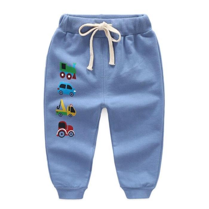 Baby Trousers Cartoon Pants Boy Leggings Cotton Baby High Waist Elastic Harem Trousers