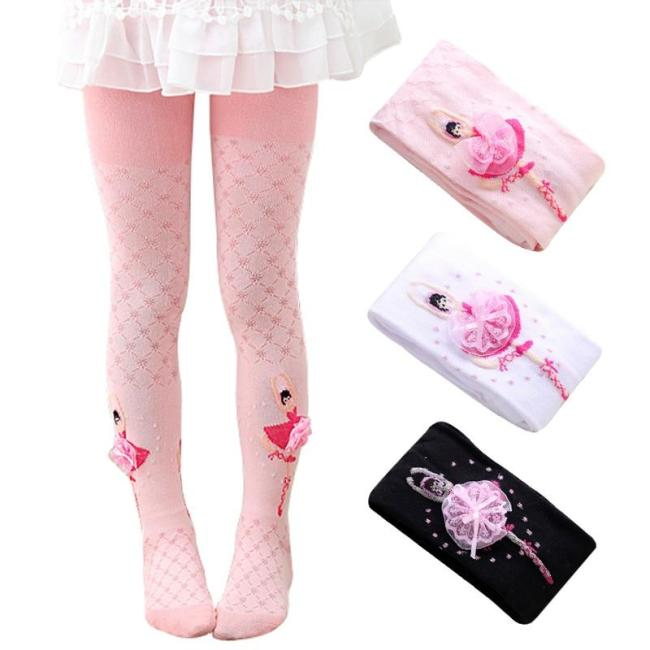 Dancing Ballet Tights for Girls Highly Elastic Soft Cotton Comfort Pantyhose