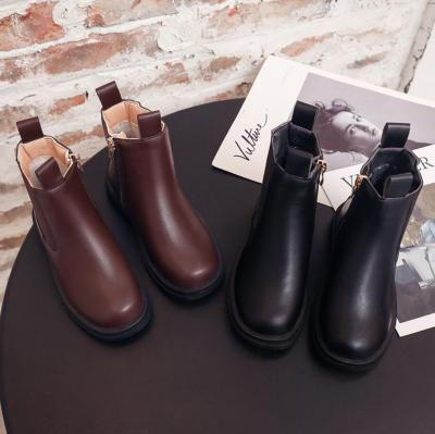 Girls Leather Martin Boots Ankle Waterproof Kids Fashion Short Boots