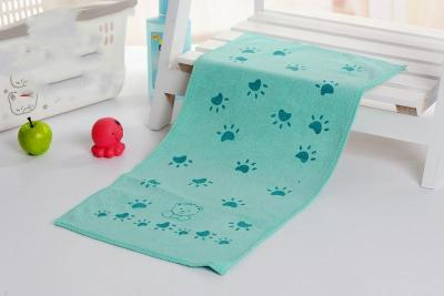 Baby Kids Cotton Towels Baby Bath Towel Baby Cartoon Animal Claw Print Bath Towel