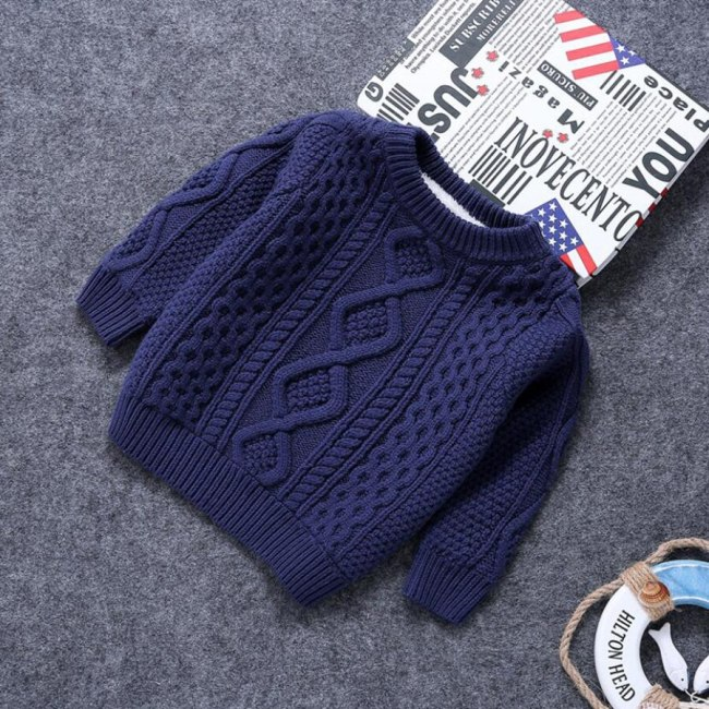 Baby boys cotton Warm Pullovers plush sweaters