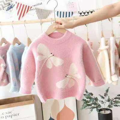 Toddler Girls Sweaters High Quality Dragonfly Sweaters for Girl