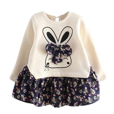 Costume Kids Cartoon Rabbit Bunny Floral Girls Print Princess Party Dress