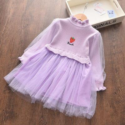 Girl Dress 0-6 Years Old Lace Embroidered Princess Dress Flower Pearl Dress
