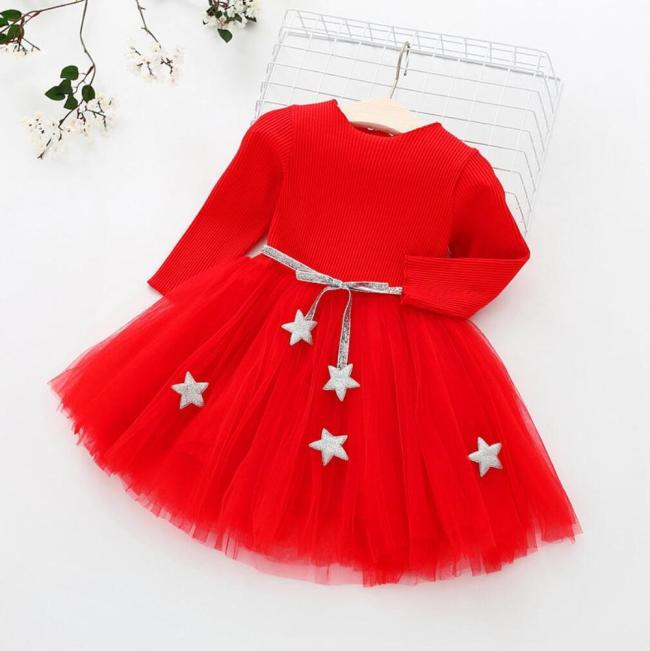 Christmas Lace Girl Dress Birthday Party Princess Dress for Children