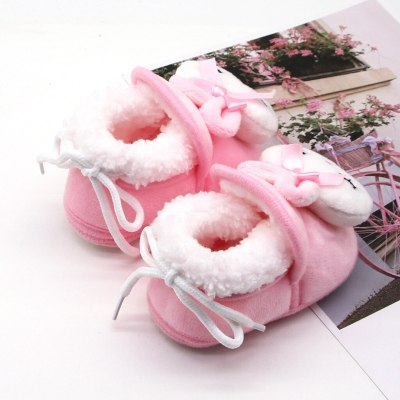 Baby Shoes Toddler Slippers Kids Girls Cartoon Rabbit Warm Winter Shoes