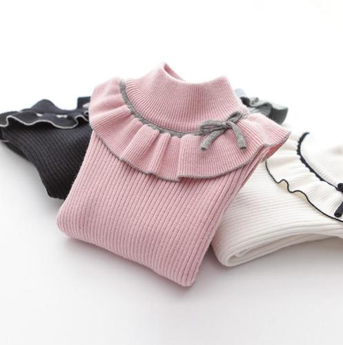 Girls Sweaters Turtlrneck Children Clothing Sweaters