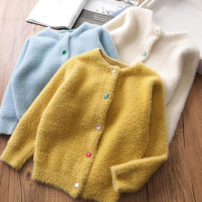 Infant Baby Toddler Sweaters Knitted Cardigan Coat For Girls Kids Casual Outwear
