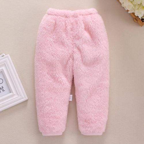 Newborn Baby Boys Pants Winter Warm Baby Pants Fleece Solid Newborn Pants