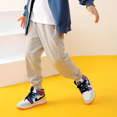 Kids Boys Pants Sports Striped Cotton Joggers Casual Track Pants Trousers