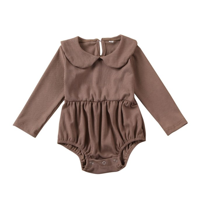 Cute Newborn Baby Girl Warm Clothes Cotton Knitted Romper Jumpsuit