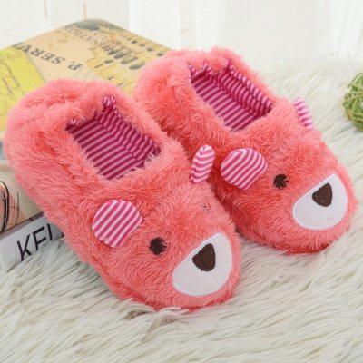 Fashion Baby Winter Slippers Kids Gilrs Super Soft Shoes Cartoon Home Non-Slip Slipper