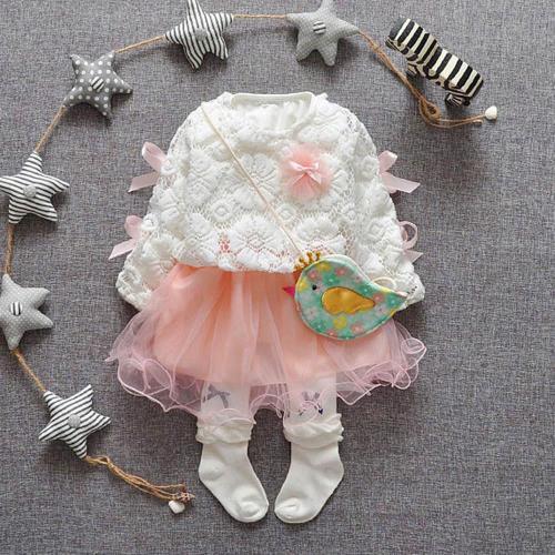 Winter Infant Baby Kids Girls Party Lace Tutu Princess Dress Long Sleeve Dress