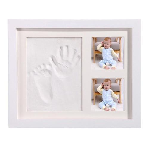 Baby Hand Foot Print Baby Photo Frame DIY handprint With Cover Fingerprint Mud Set