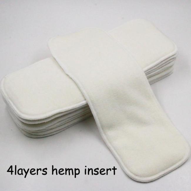 Reusable Cloth Diaper Super Absorbent Hemp Diaper Inserts for Baby Nappies