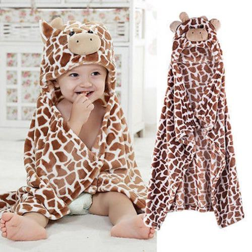 Cute Baby Kid Cotton Wrap Bathrobe Animal Cartoon Soft Hooded bath toweld