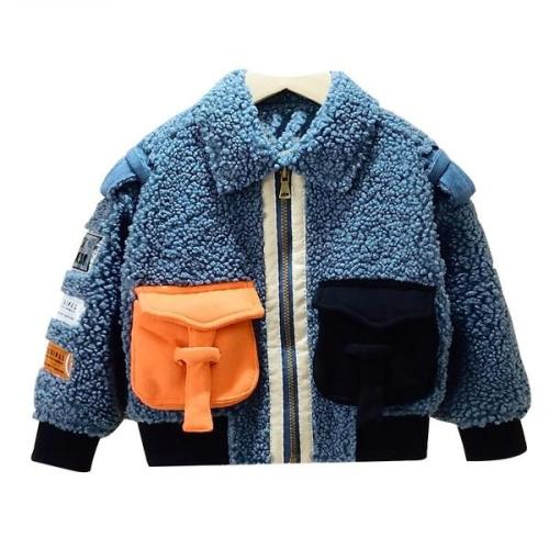 Boys Wool Coat Fashion Jacket Autumn Winter Warm Windproof Outerwear