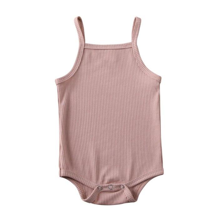 Solid Sleeveless Newborn Girl Bodysuit Infant Body Bebe Girl Bodysuits