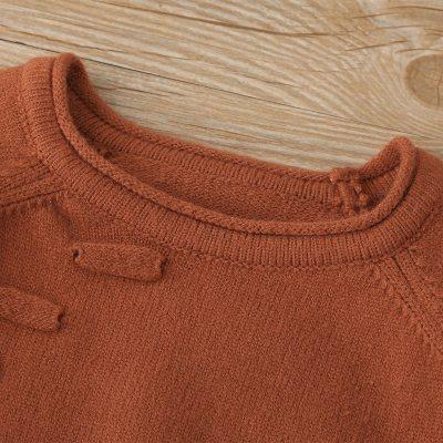Kids Baby Teen Girls Long Sleeved Solid Pocket Sweater