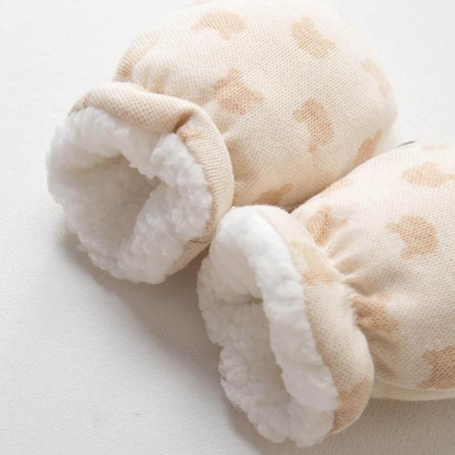 Winter Gloves Thicken Warm Fleece Cute Newborn Baby Anti-grab Mittens