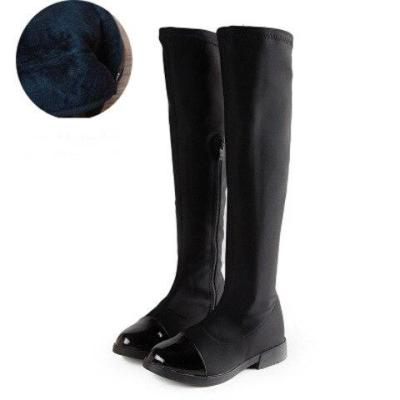 Winter Fashion Rubber Boots for Girls Over-the-knee Kids Back-tied Boots