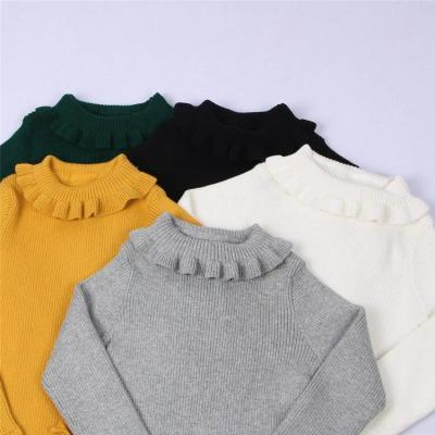 Baby Girls Turtleneck With Ruffle Neck Baby Kids Sweaters Coats