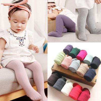 Girl Cotton Warm Pantyhose Stretch Stockings Kids Solid Candy Color Tights