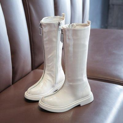 Girls Long Boots Little Girl High Boots Patent Leather Knight Boots