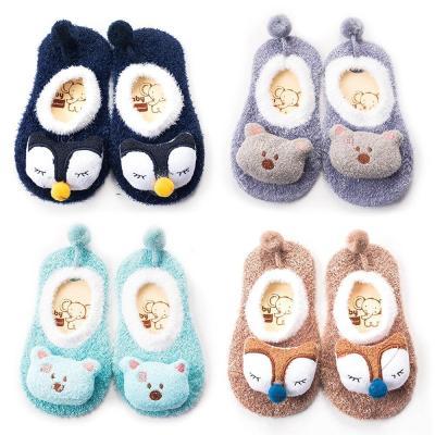 Baby Socks Rubber Anti Slip Cartoon Sock Furry Fashion Cute Cartoon Socks
