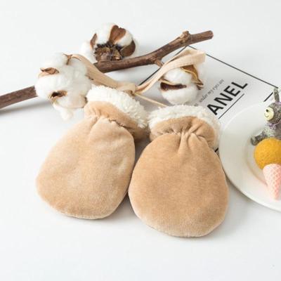Kids Anti-Grab Gloves Winter Baby Fleece Full Finger Thicken Mittens