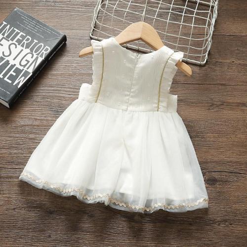 Princess Baby Girl Summer Dress Party Birthday tutu Dress White Baptism Wedding Dresses