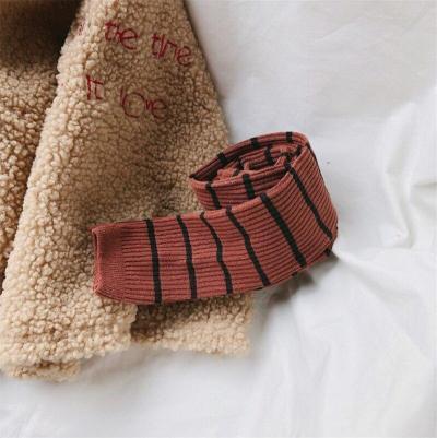 Autumn Winter Kids Girls Leggings Cotton Striped Leggings