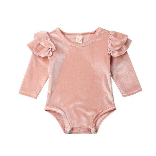 Newborn Infant Baby Girls Romper Long Sleeve Ruffles Jumpsuit