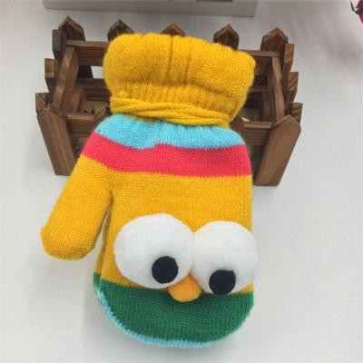 Cute Gloves Baby Thicken Plus Velvet Mittens Children Kids Gifts