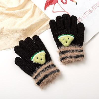Baby Gloves Knitted Winter Cute 3D Fruit Gloves Warm Children Full Finger Gloves