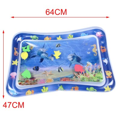 Baby Water Mat Inflatable Patted Pad Cushion Infant Toddler Water Play Mat