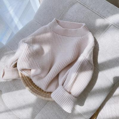 Solid Sweater Kids Baby Girls Clothing Loose Casual Pullover Sweater