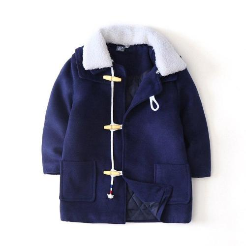 Winter Thicken Wool Windproof Warm Boys Jackets Children Outerwear