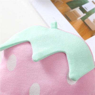 Newborns Strawberry Sleeve Cap Beanie Cotton Cap