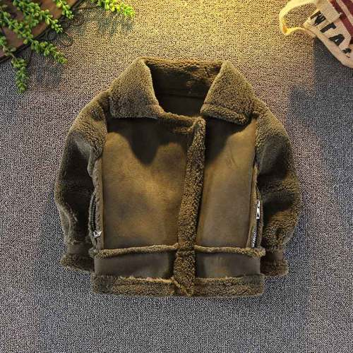 Boys Wool Coat Jacket Winter Kids Windproof Children Clothing Outerwear